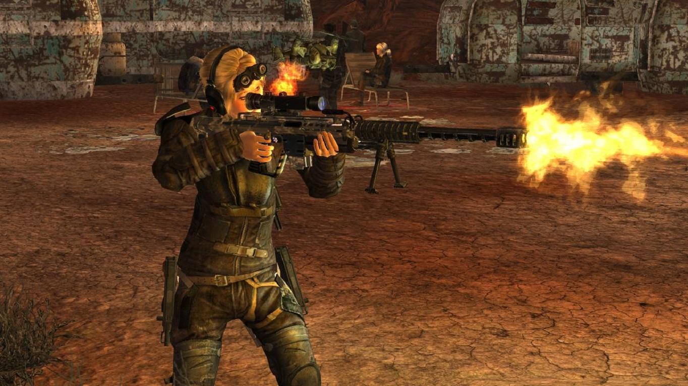 Оружие из Японии.Выстрел. - Fallout: New Vegas