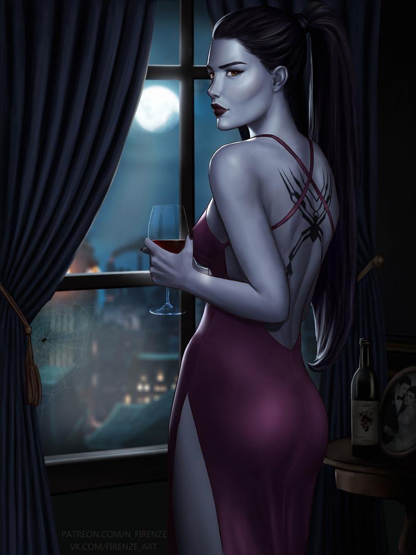 Вдова - Overwatch Арт