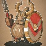 Dwarf Fortress Арт художника Irgmir-Lokhammer под названием Speardwarf