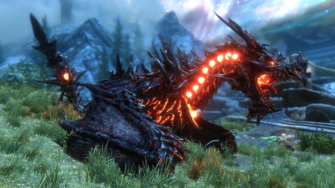 дракон скайрима картинки деятельности заявлена