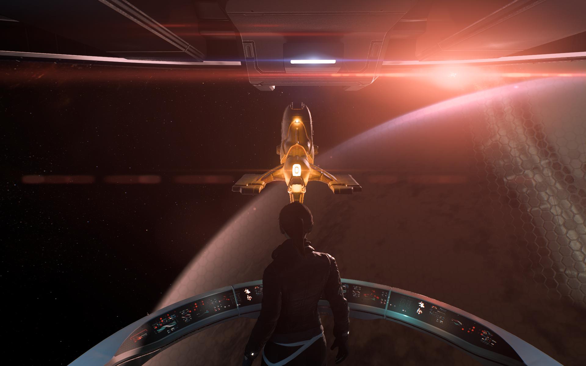 """""""большой брат"""" следит за тобой :) - Mass Effect: Andromeda"""