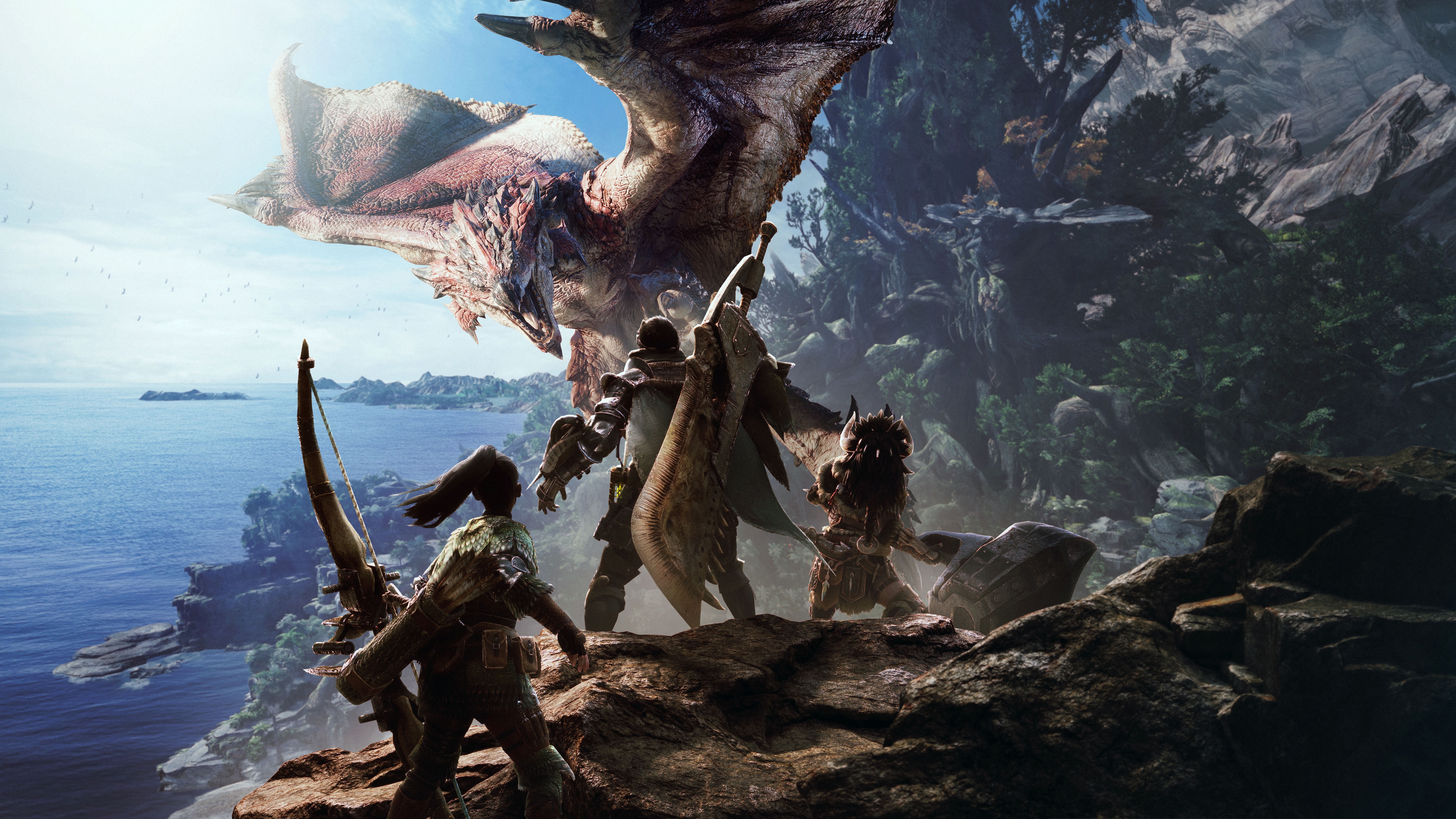 Охота на дракона - Monster Hunter: World 8K, Арт