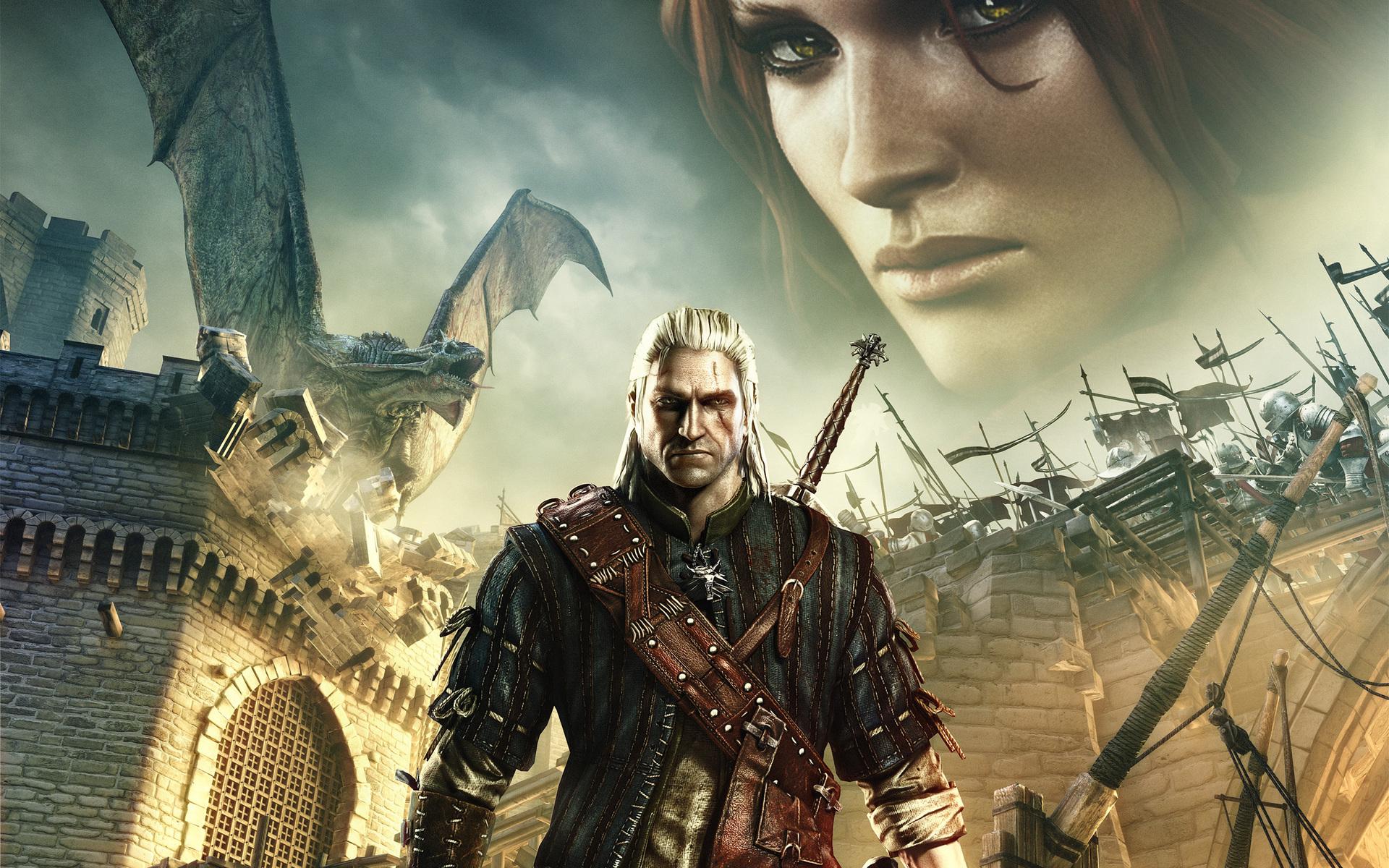 Геральт и Трисс - Witcher 2: Assassins of Kings, the