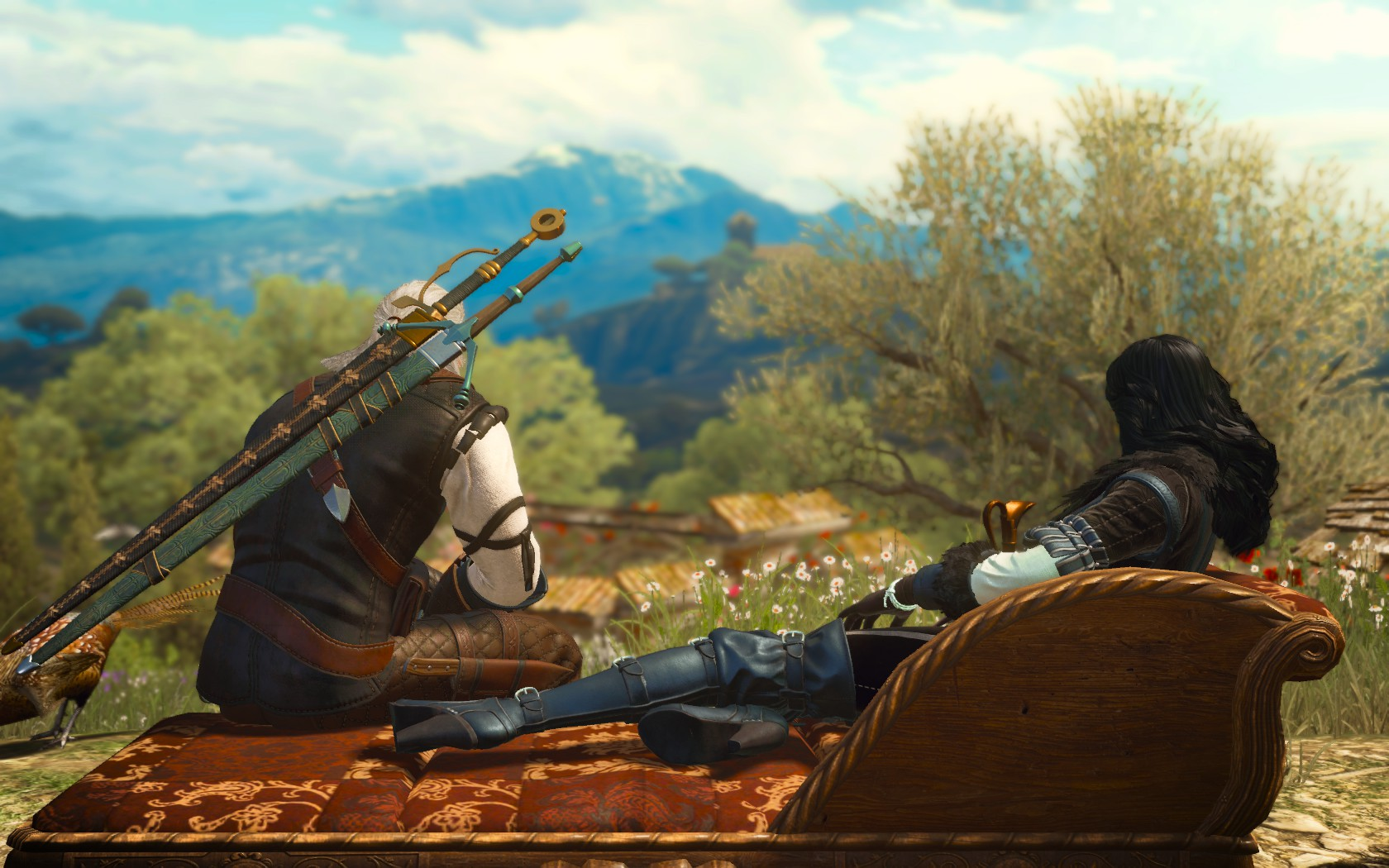 Геральт и Йен - Witcher 3: Wild Hunt, the DLC