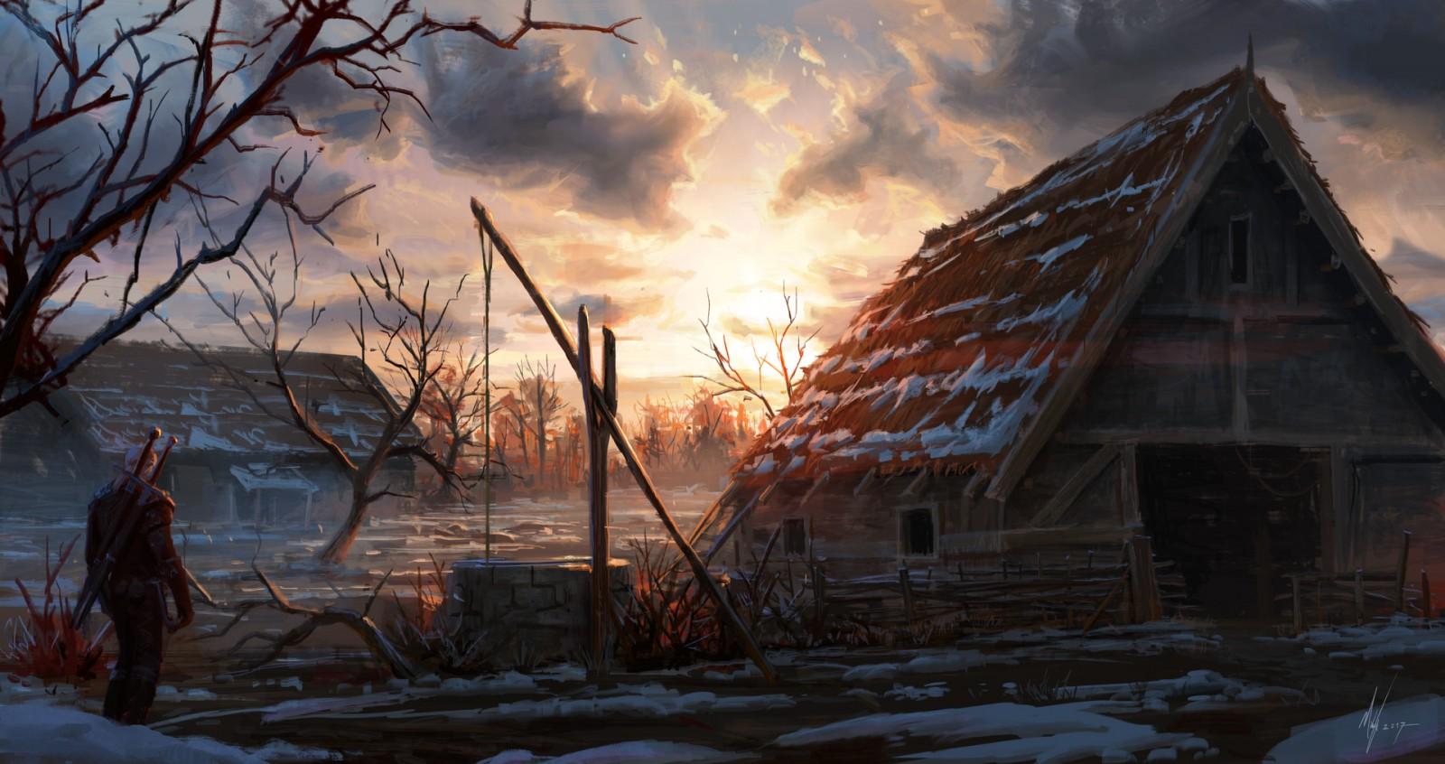 Деревня - Witcher 3: Wild Hunt, the