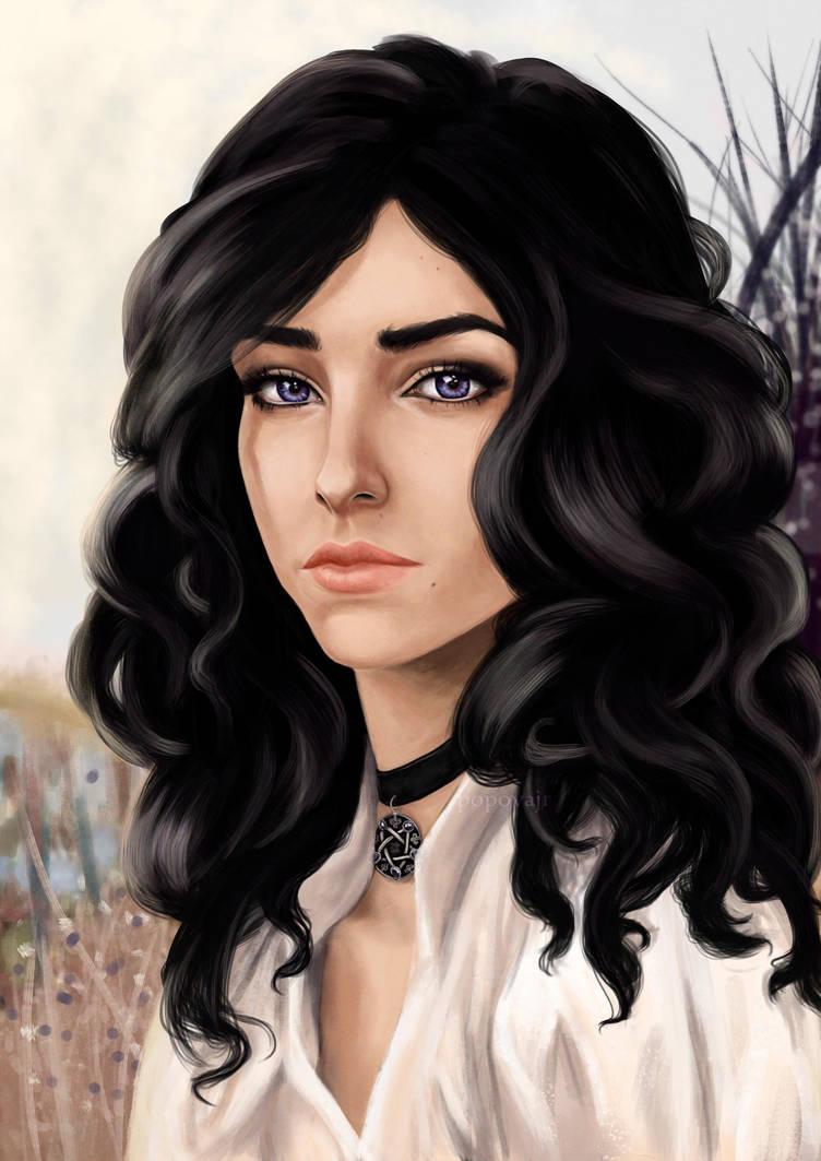 Милейший арт с Йен - Witcher 3: Wild Hunt, the