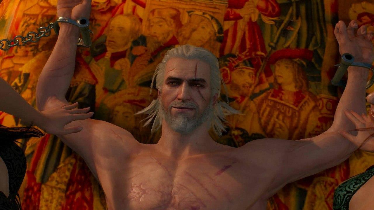 Геральт в кровати - The Witcher 3: Wild Hunt