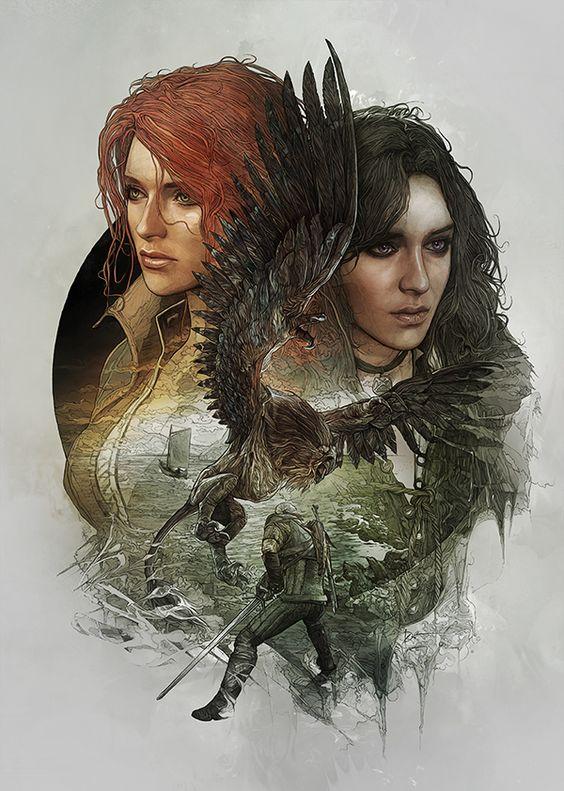 Арт на Трисс и Йенн - Witcher 3: Wild Hunt, the арт, Йеннифер, Трисс
