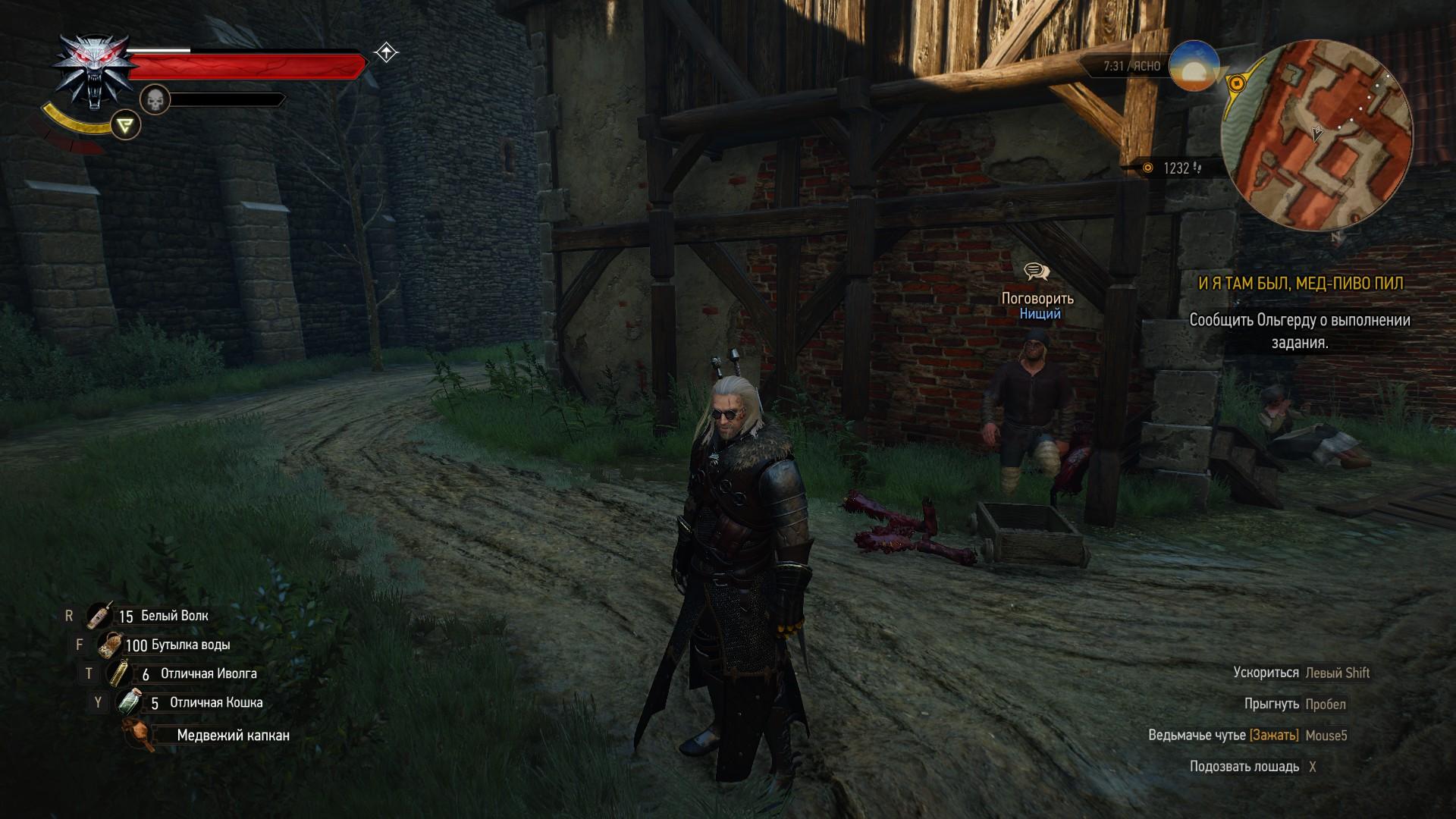Геральт исцеляет безногого - Witcher 3: Wild Hunt, the Юмор