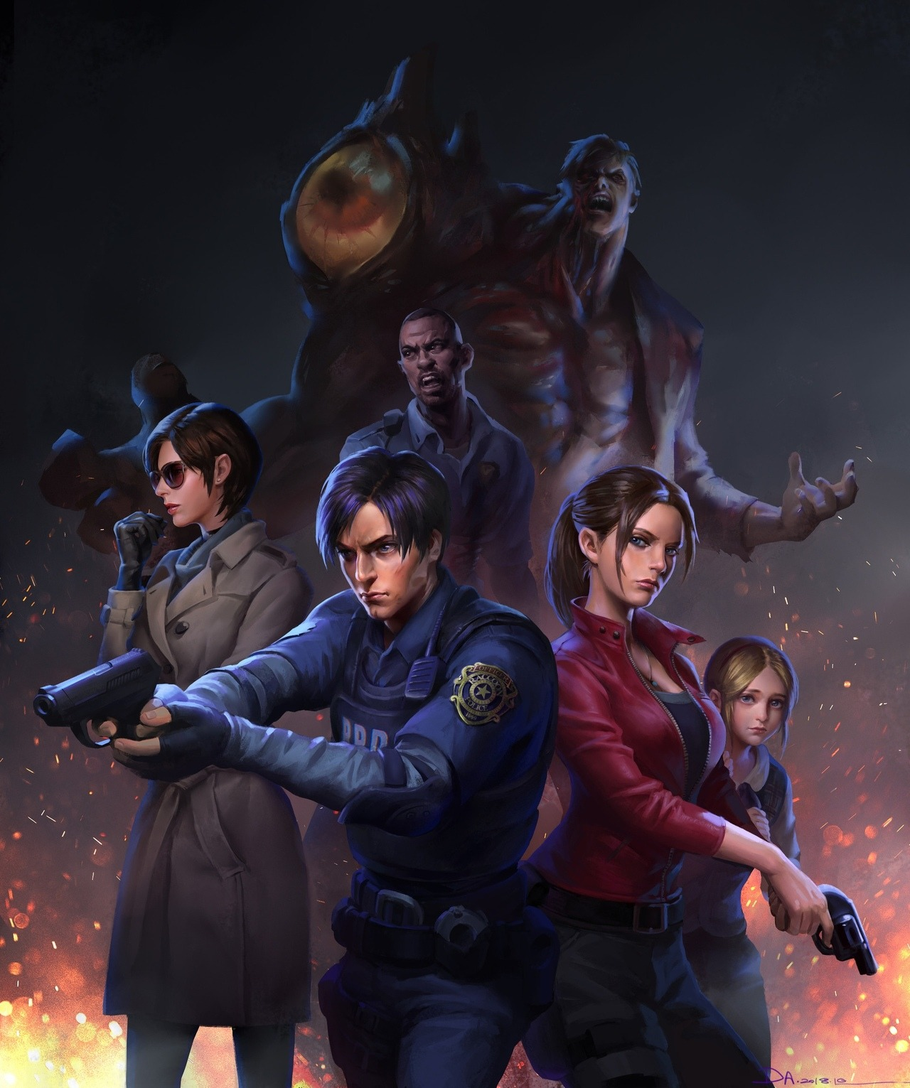 tumblr_phfbxzflTi1xr8an0o1_1280.jpg - Resident Evil 2 Ада Вонг, Клэр Редфилд, Леон С. Кеннеди