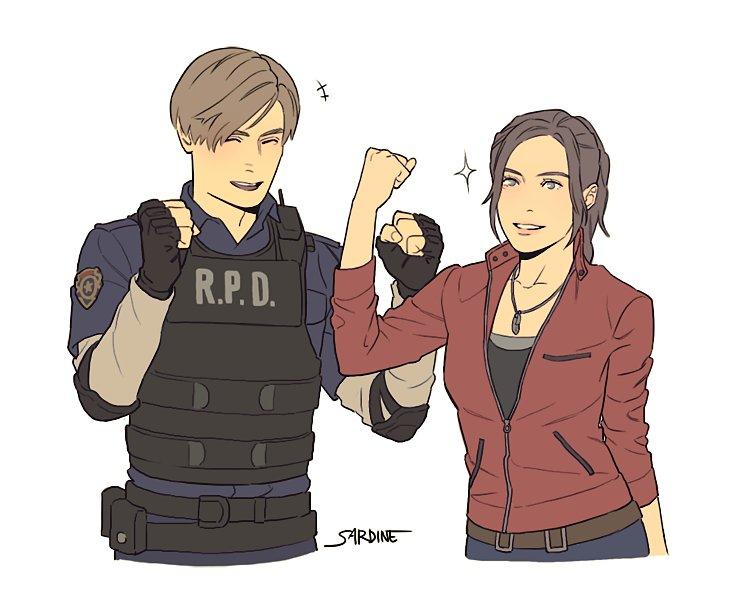 wah82pTkASE.jpg - Resident Evil 2 Клэр Редфилд, Леон С. Кеннеди