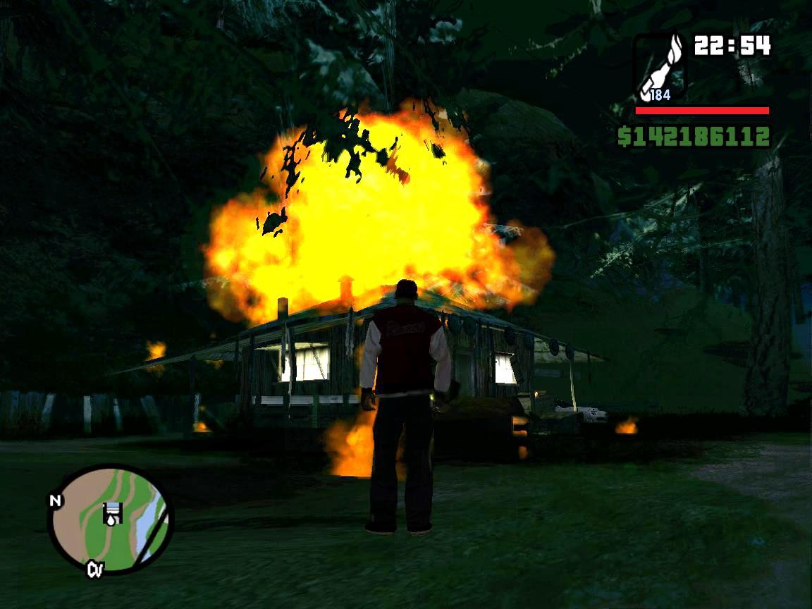 Хибарка Каталины - поджигаем - Grand Theft Auto: San Andreas