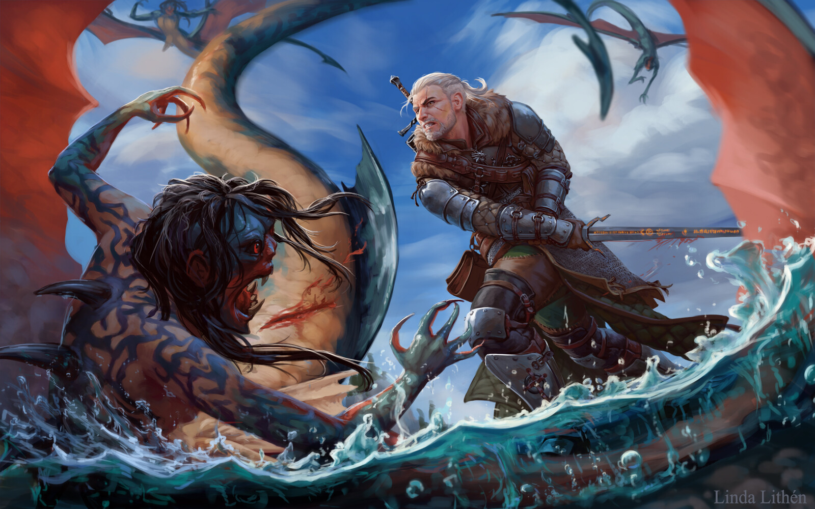 by Linda Lithen - Witcher 3: Wild Hunt, the Арт