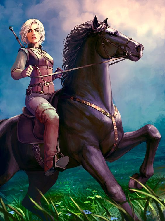 Art on Ciri - Witcher 3: Wild Hunt, the