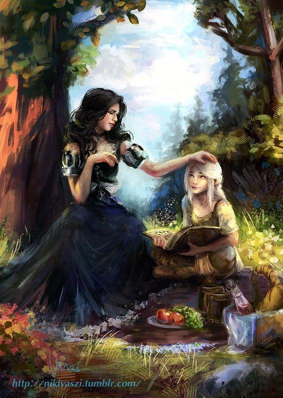 Art. Ciri and Jennifer - Witcher 3: Wild Hunt, the