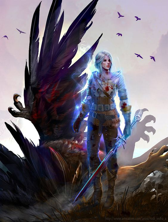 Art on Ciri - Witcher 3: Wild Hunt, the