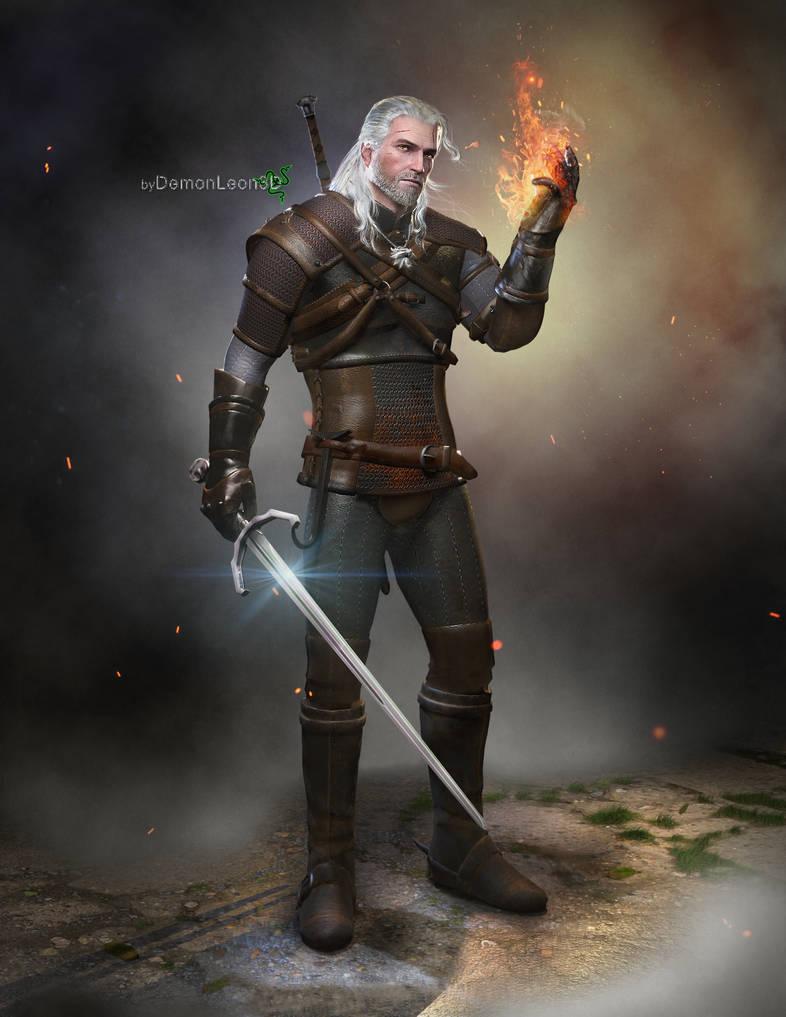 geralt___the_witcher_3_by_demonleon3d_d9jryyg-pre.jpg - Witcher 3: Wild Hunt, the