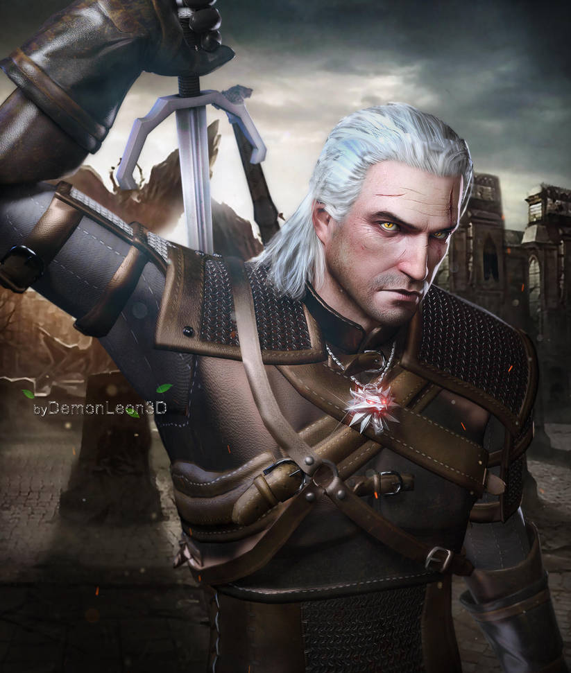 geralt_of_rivia_by_demonleon3d_d9kba8k-pre.jpg - Witcher 3: Wild Hunt, the