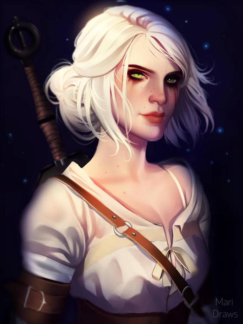 ciri_by_cosmogirll_dbdtc6y-pre.jpg - Witcher 3: Wild Hunt, the