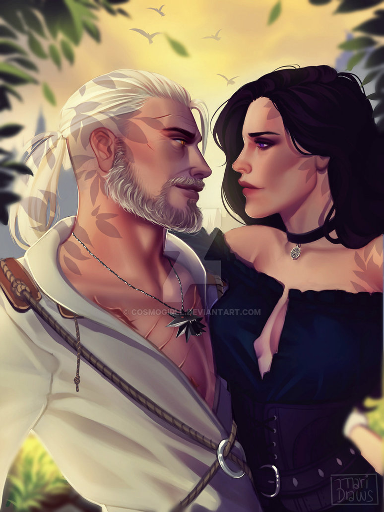 geralt_and_yen_by_cosmogirll-dbezho7.jpg - Witcher 3: Wild Hunt, the