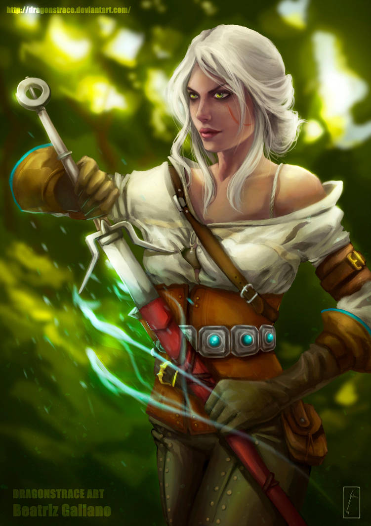 before_the_battle____ciri___the_witcher_iii_by_dragonstrace_dbazfvy-pre.jpg - Witcher 3: Wild Hunt, the