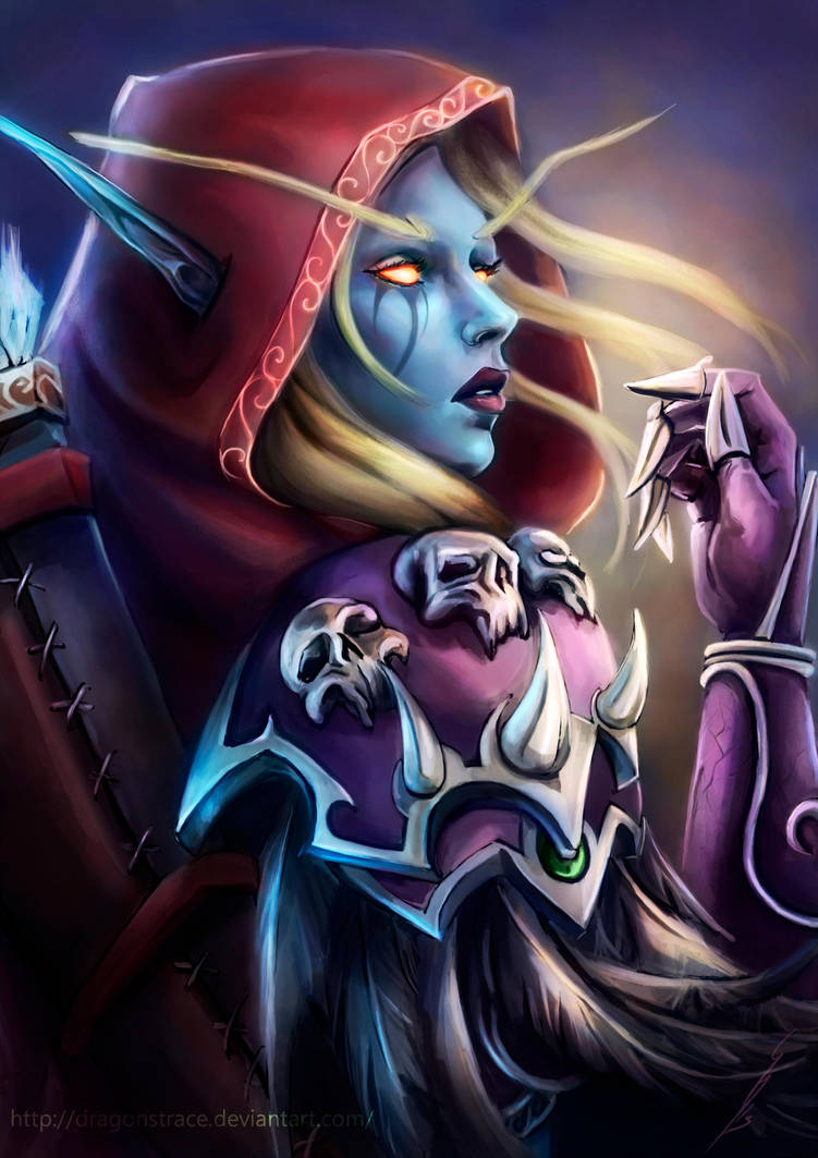 sylvanas___world_of_warcraft_by_dragonstrace_d8ezgze-pre.jpg - World of Warcraft