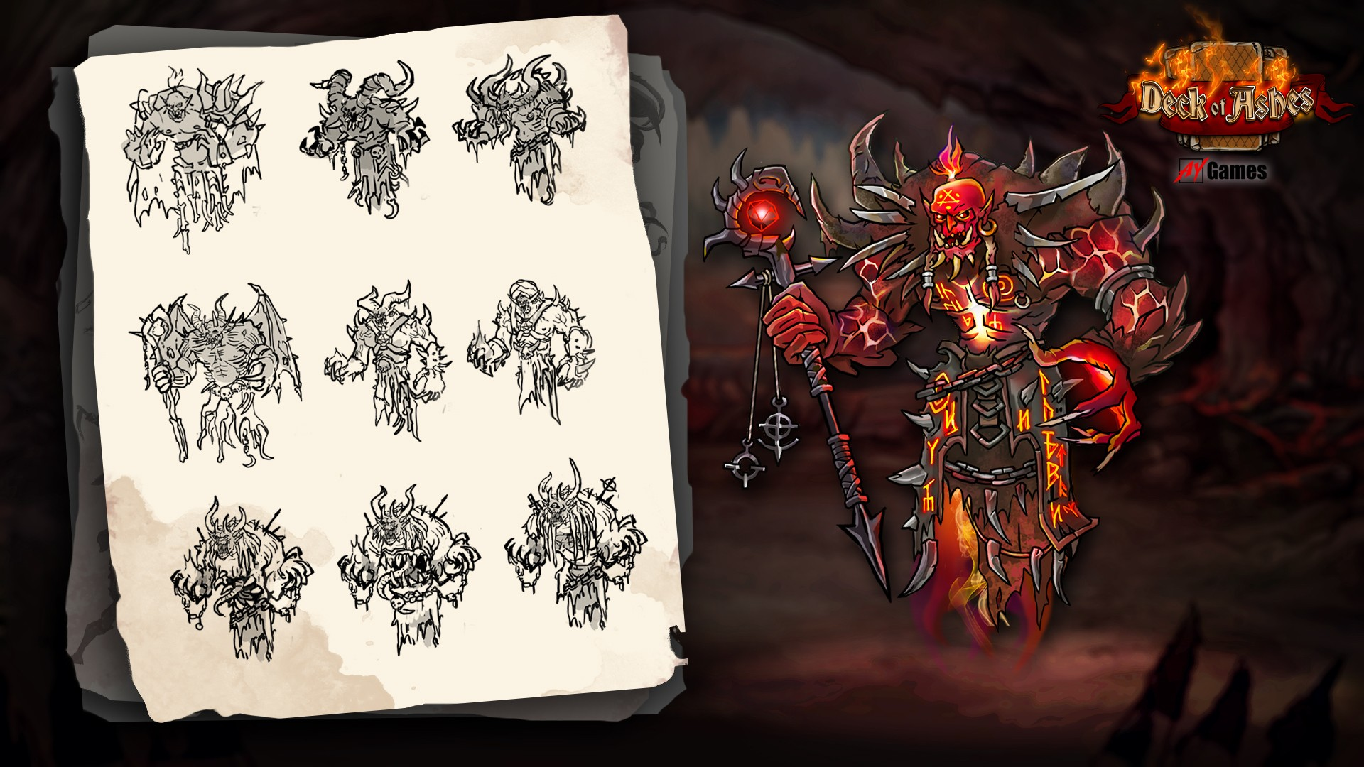 concept_ifrit.jpg - Deck of Ashes Арт
