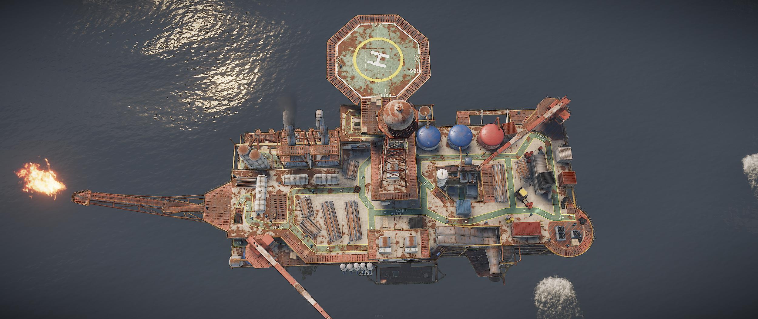 Большая нефтяная вышка - Rust