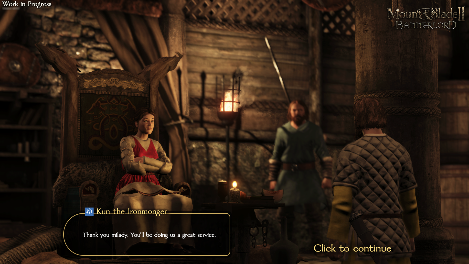 Диалог - Mount & Blade 2: Bannerlord