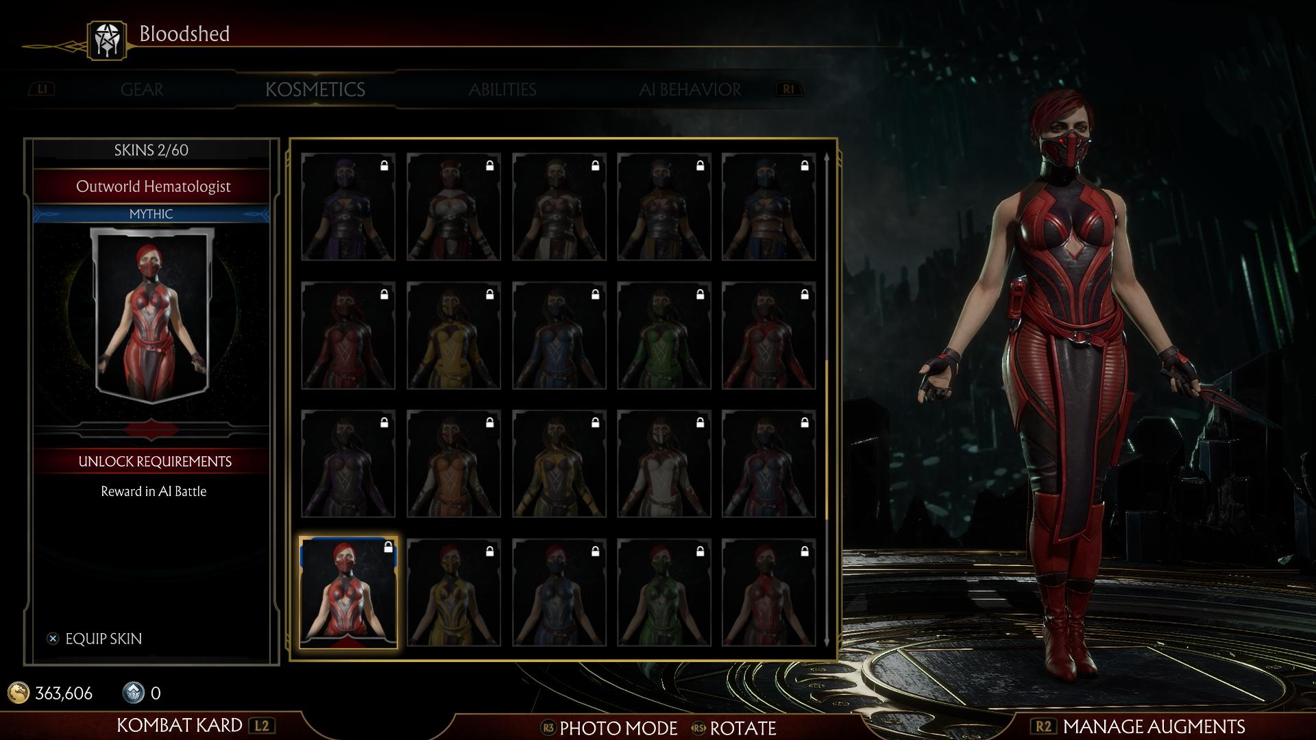 Скарлетт - Mortal Kombat 11