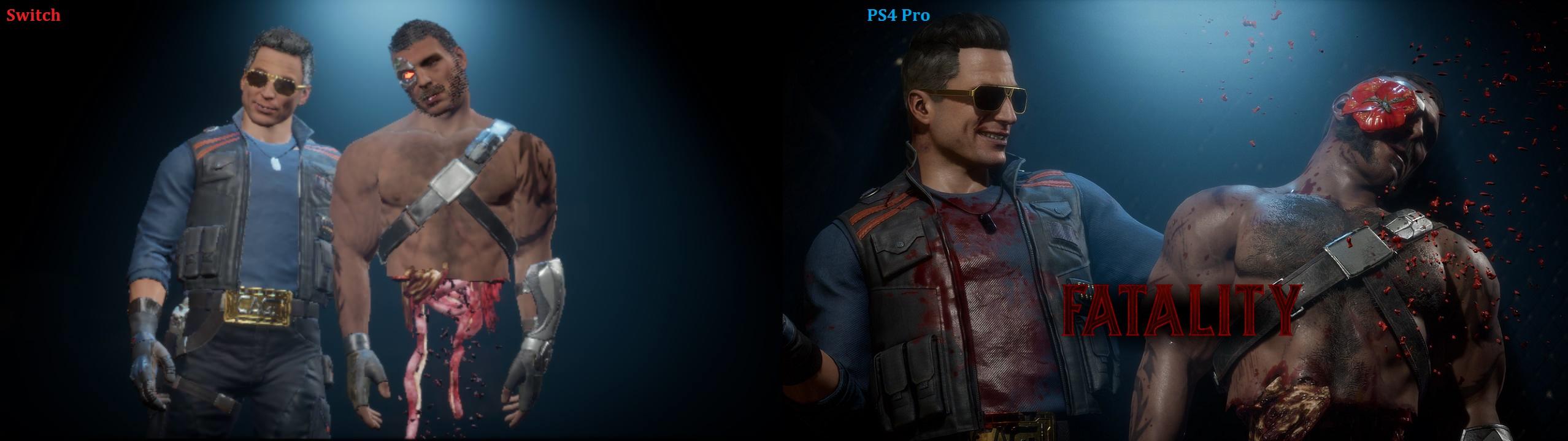 Switch vs PS4 Pro - Mortal Kombat 11