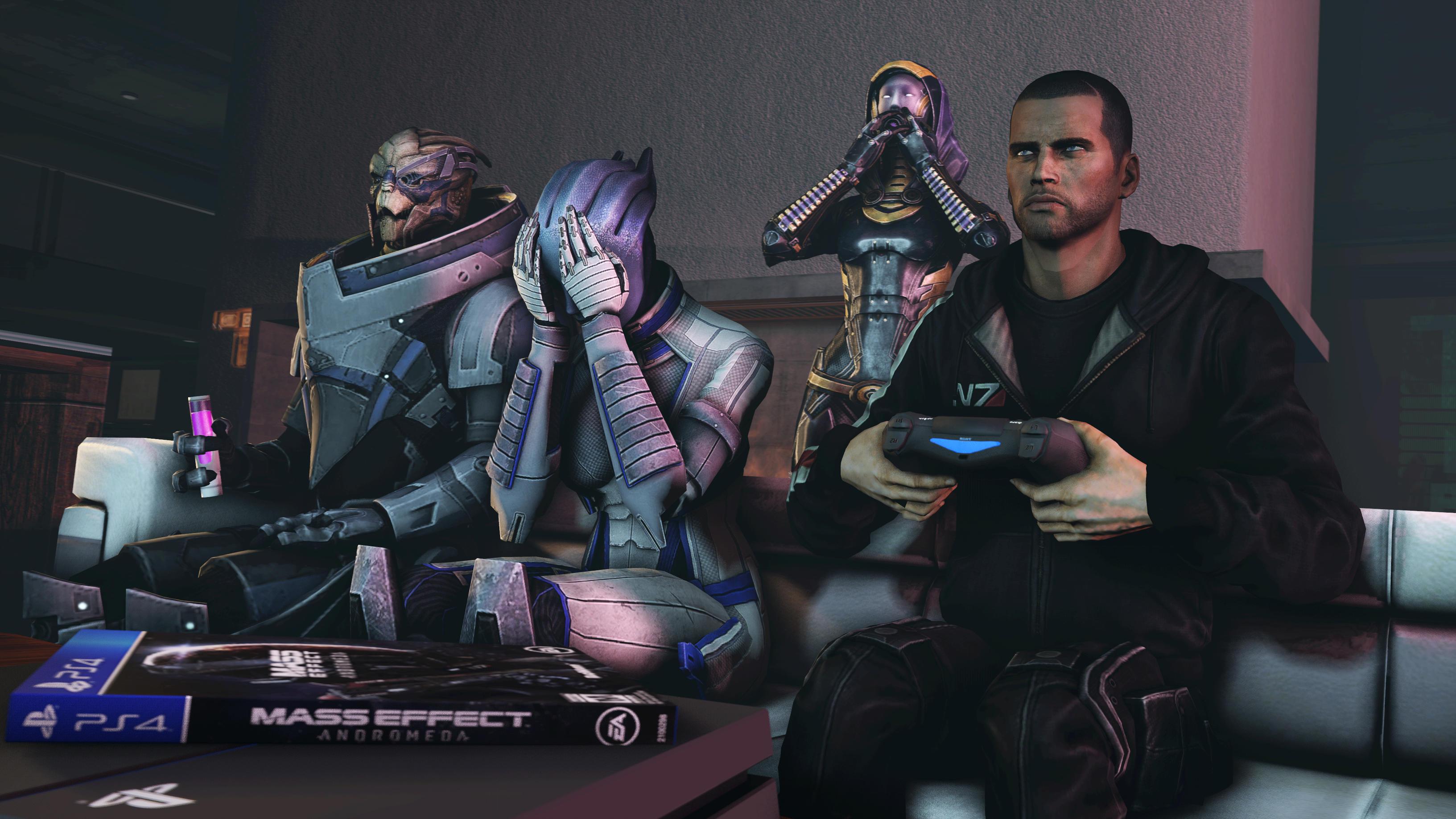 """Шепард играет в """"Андромеду"""" ) - Mass Effect 3"""