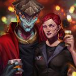 Mass Effect 3 Джейн бухает вместе с Явиком )