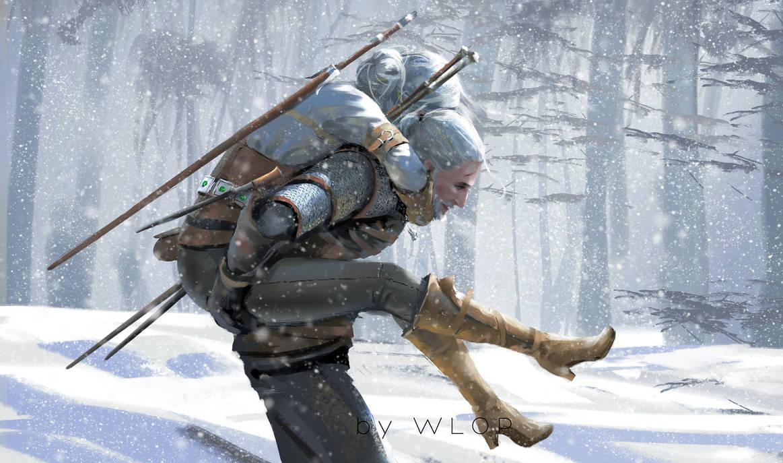 Geralt & Ciri - Witcher 3: Wild Hunt, the