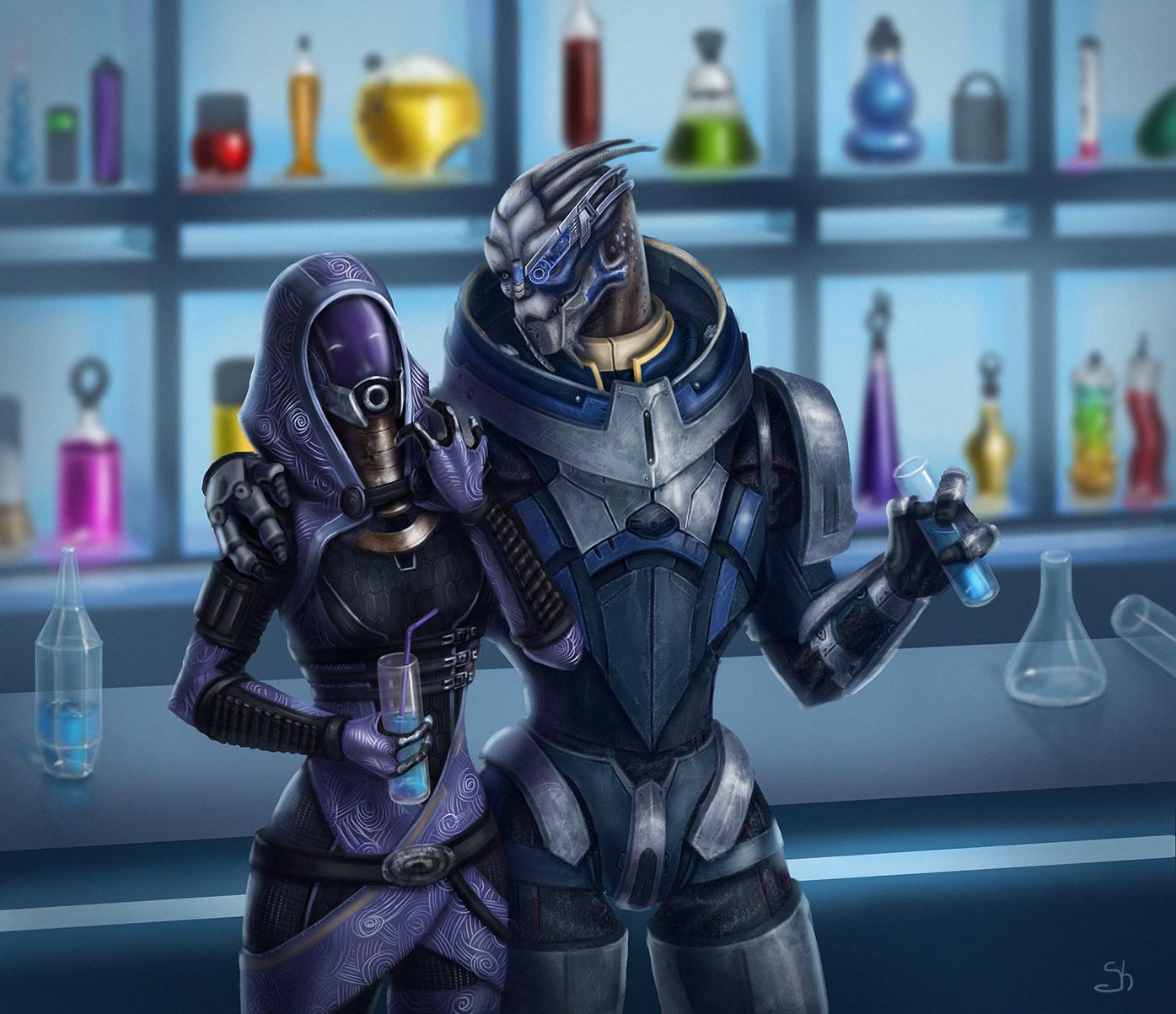 Гаррус и Тали - Mass Effect 3