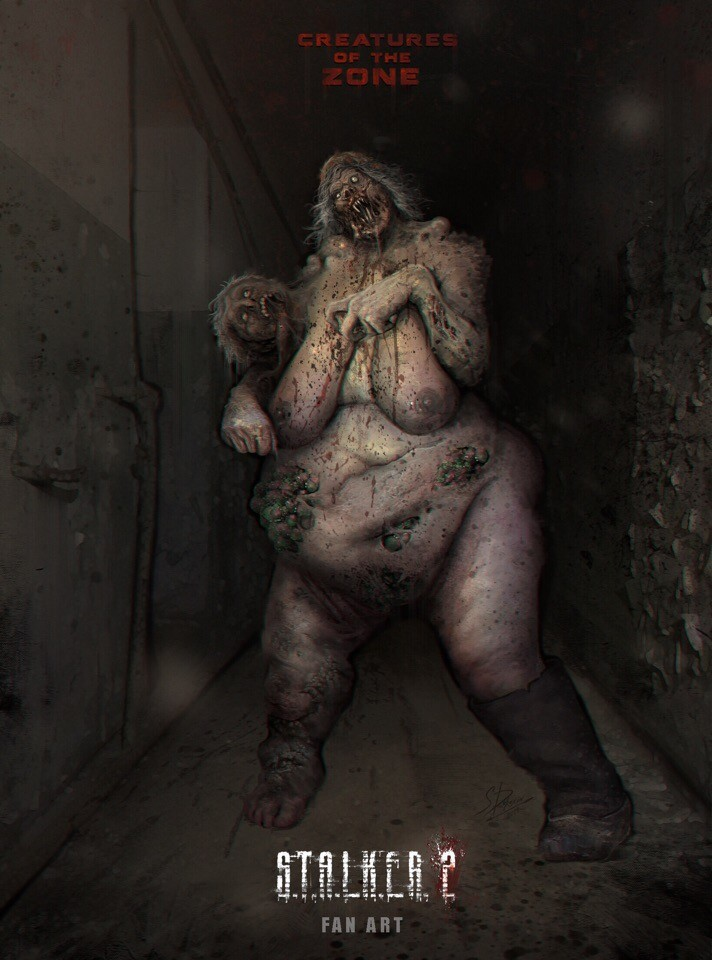 монстр — бабка Наташа - S.T.A.L.K.E.R. 2