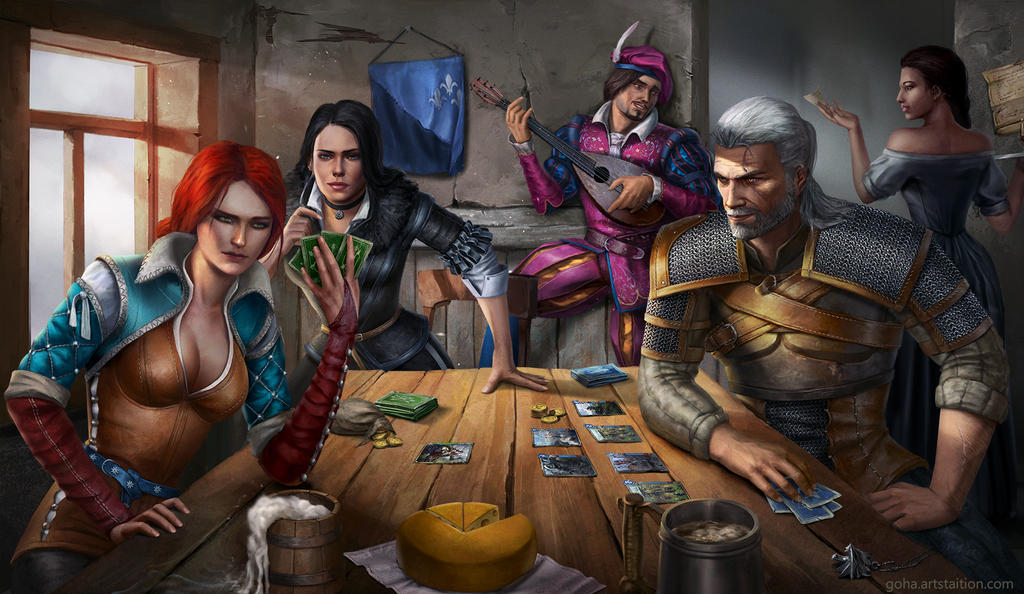 party_in_gwent_by_icemacob_db8lbsb-fullview.jpg - Witcher 3: Wild Hunt, the