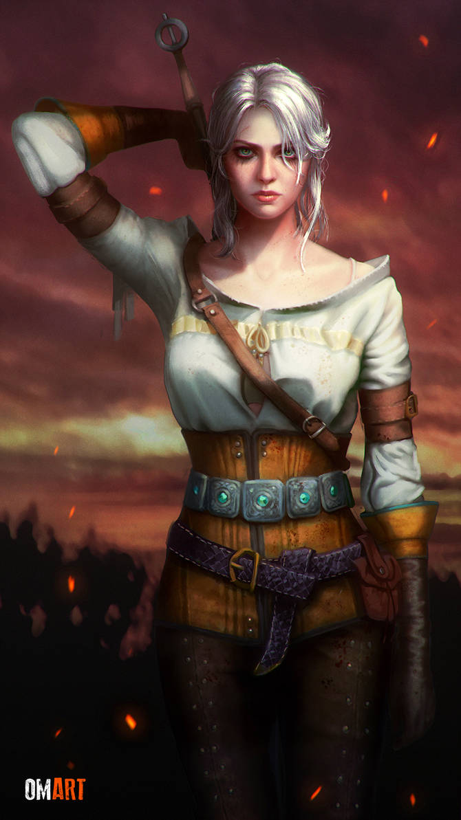 ciri_the_witcher_iii_fanart_by_omardiazart_da6ci6n-pre.jpg - Witcher 3: Wild Hunt, the