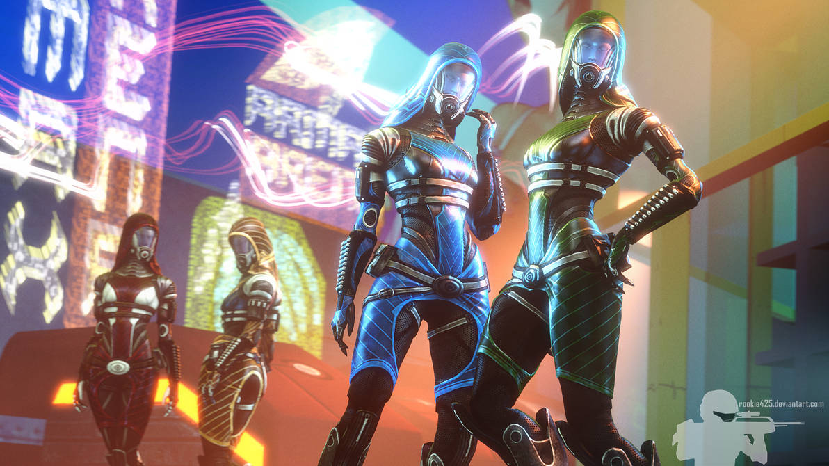 quarian_night_out__the_sisters_by_rookie425_dd6mxdm-pre.jpg - Mass Effect 3