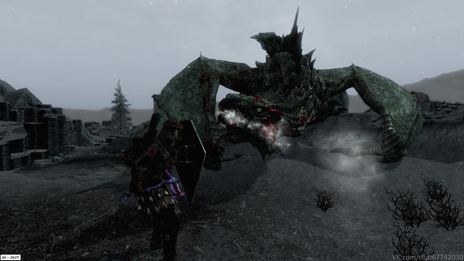 Дракон на Солстейме. - Elder Scrolls 5: Skyrim, the Дракон, легионер, Солстейм
