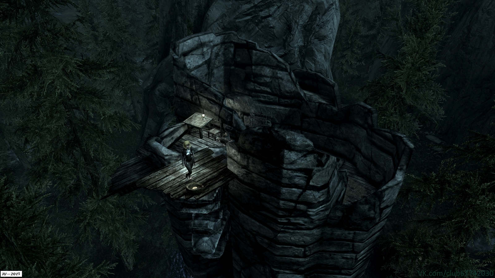 "Скрин из мода ""Башня Баннермист. Ремонт"". - Elder Scrolls 5: Skyrim, the башня Баннермист"