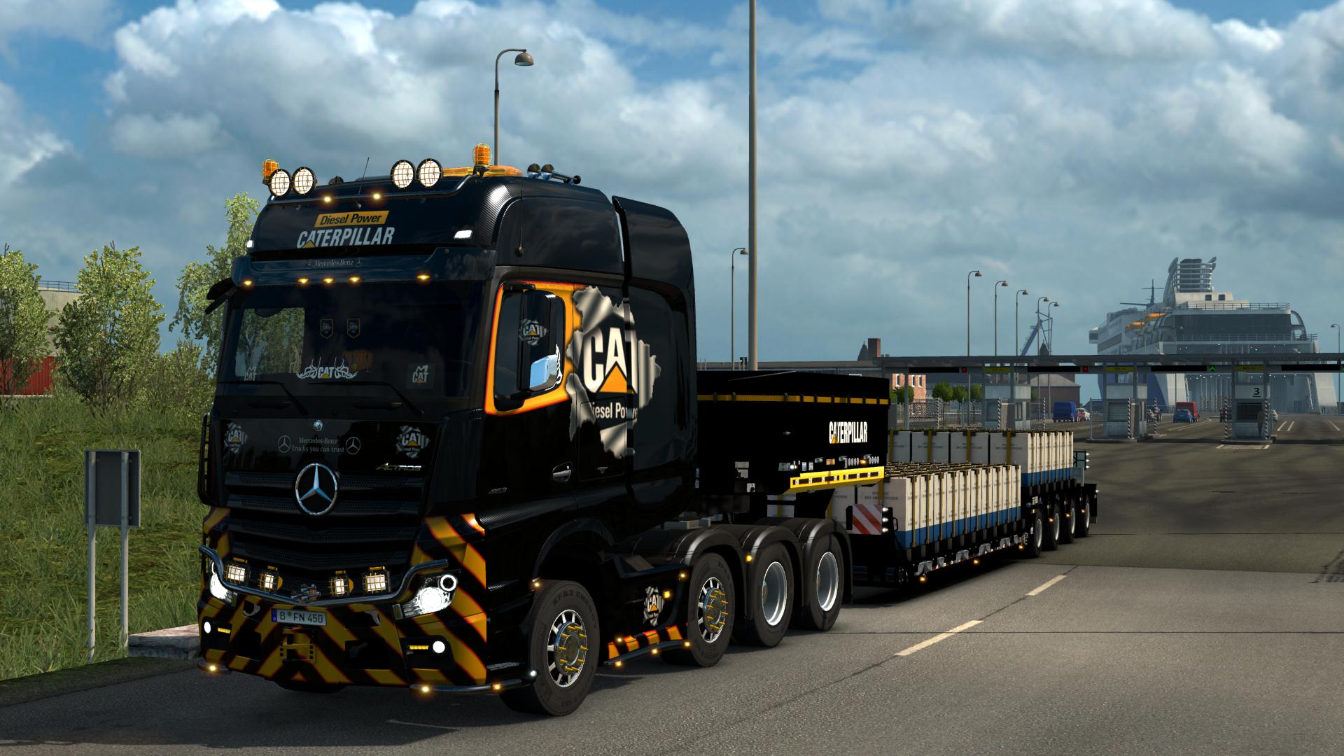 mp4 cat 8x4 - Euro Truck Simulator 2
