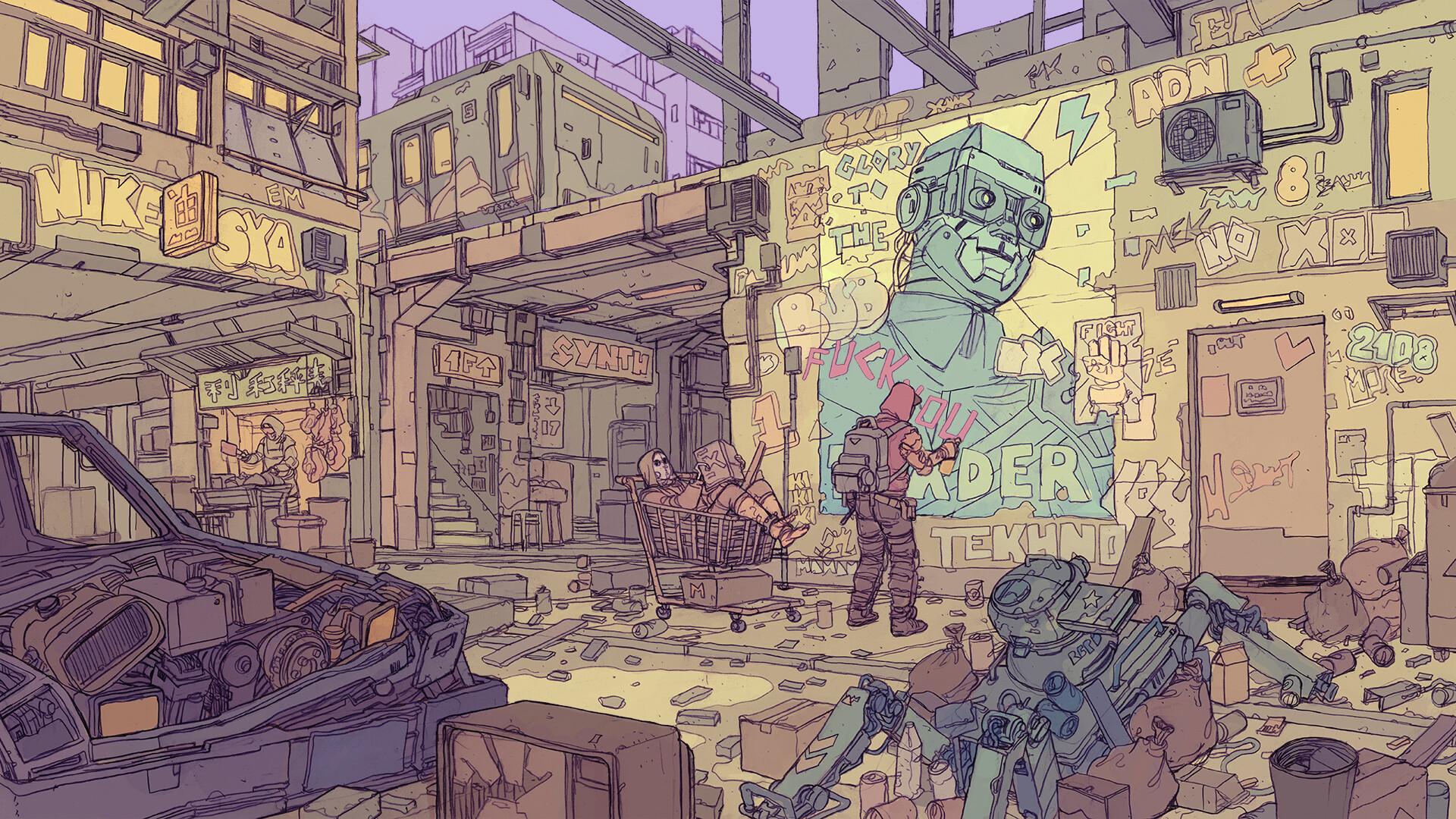 death-burger-under-rail-v12.jpg - Cyberpunk 2077
