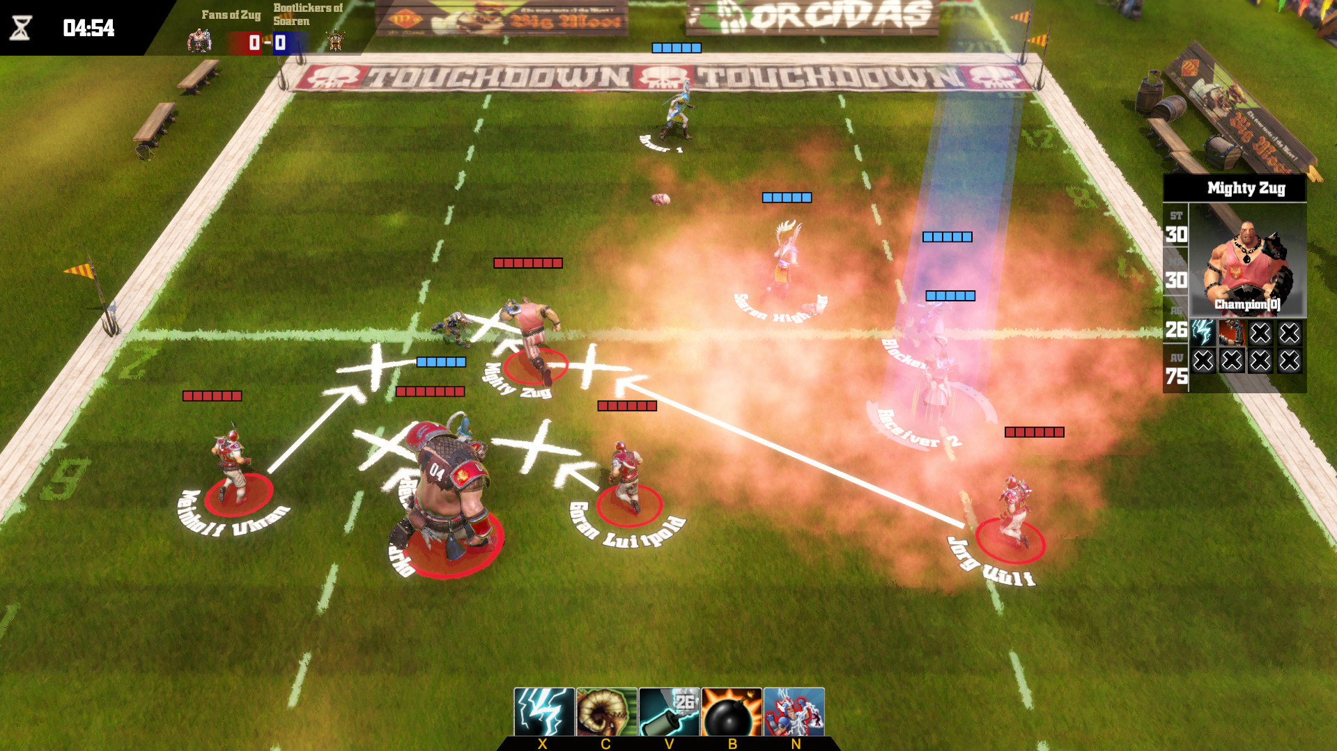 Геймплей - Blood Bowl: Death Zone