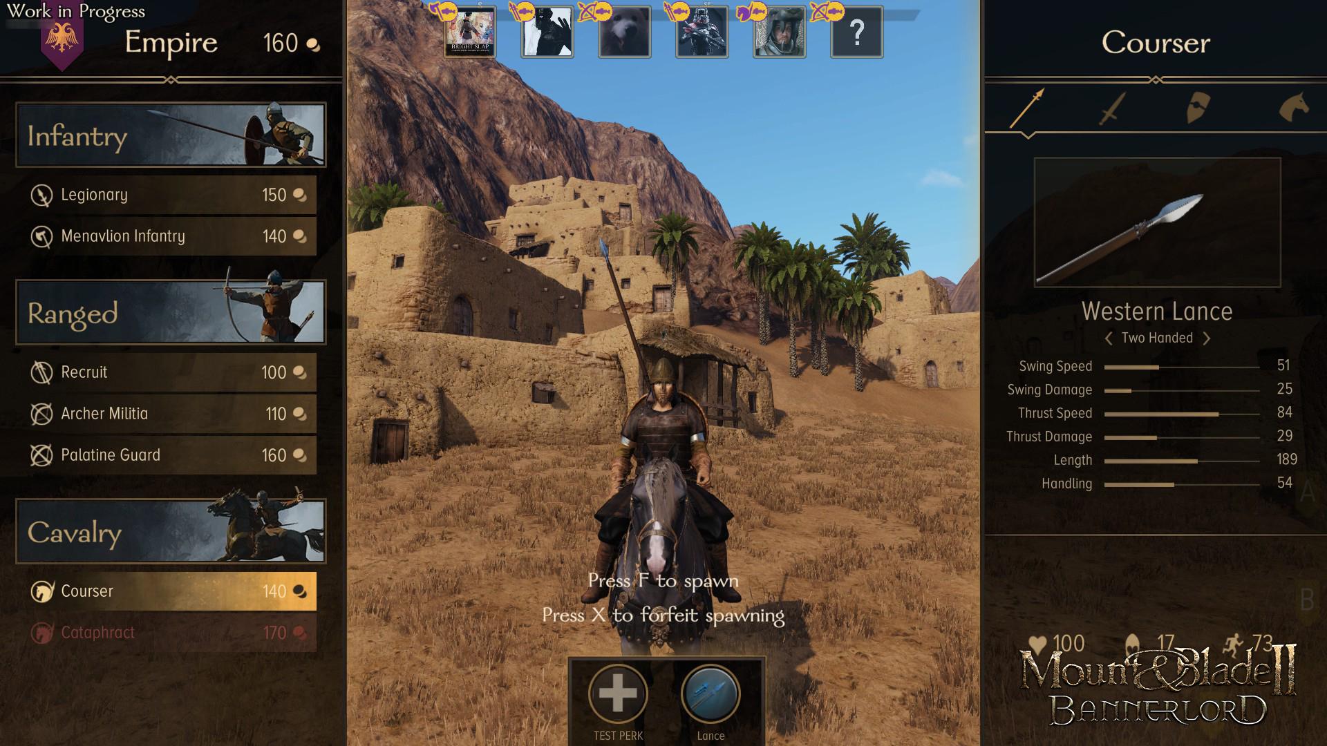 система классов - Mount & Blade 2: Bannerlord