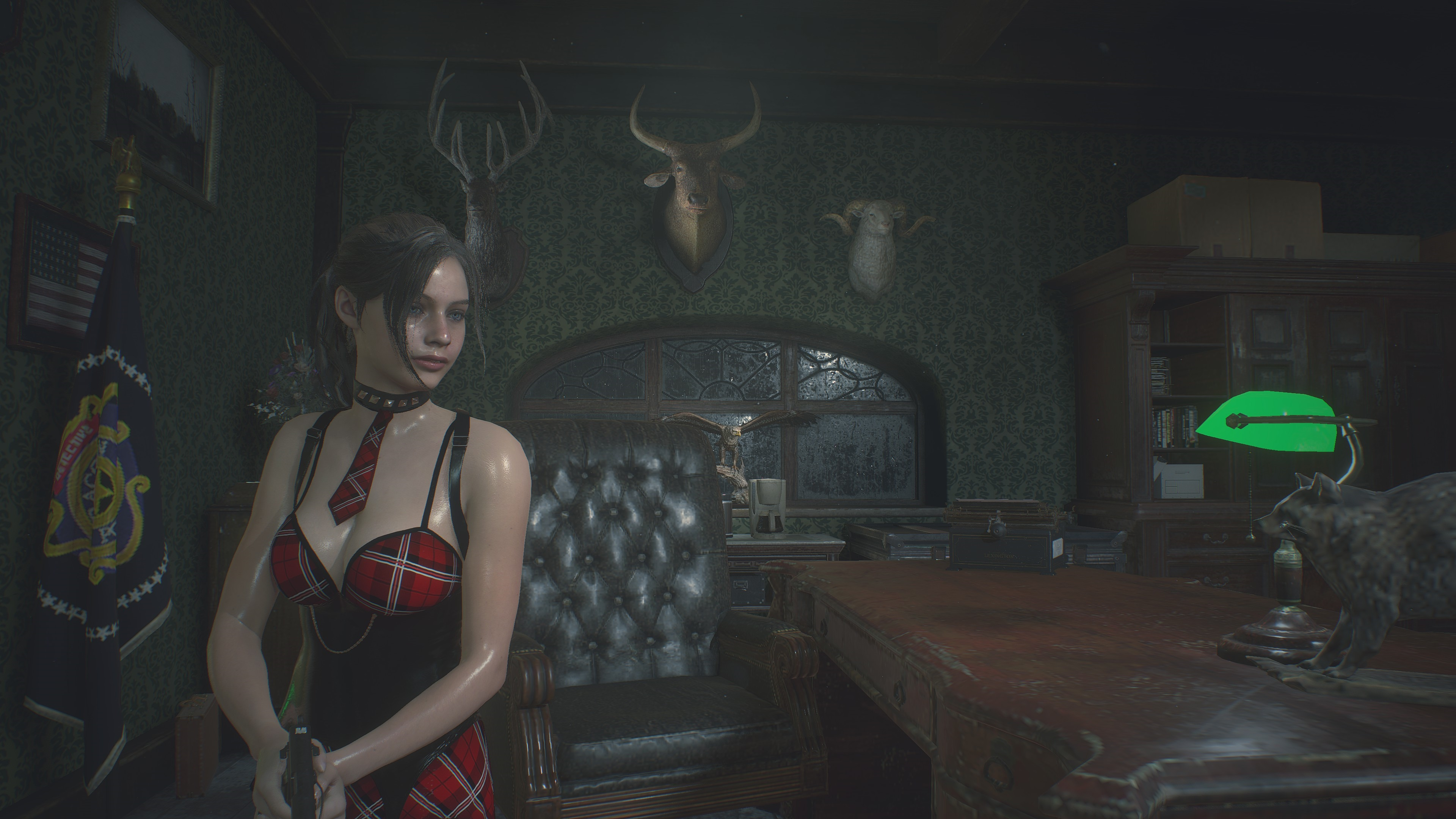 RESIDENT EVIL 2 / BIOHAZARD RE:2 Claire College girl 4k ultra graphics Nvidia GeForce RTX 2080 - Resident Evil 2