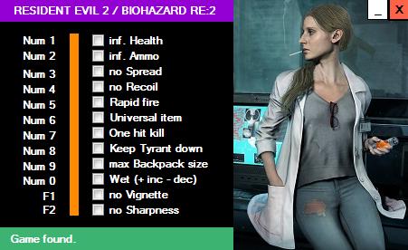 trainer.PNG - Resident Evil 2