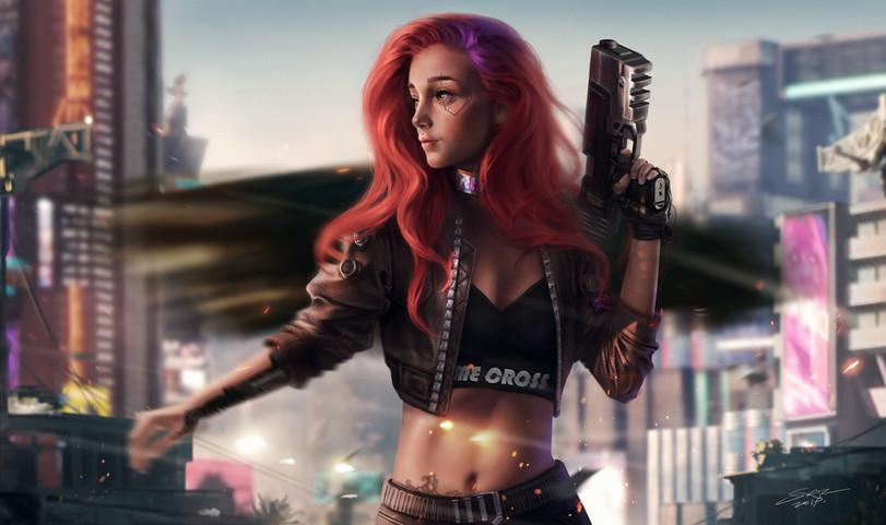 Cyberpunk-2077-Игры-fan-art-art-девушка-5357369.jpeg - Cyberpunk 2077