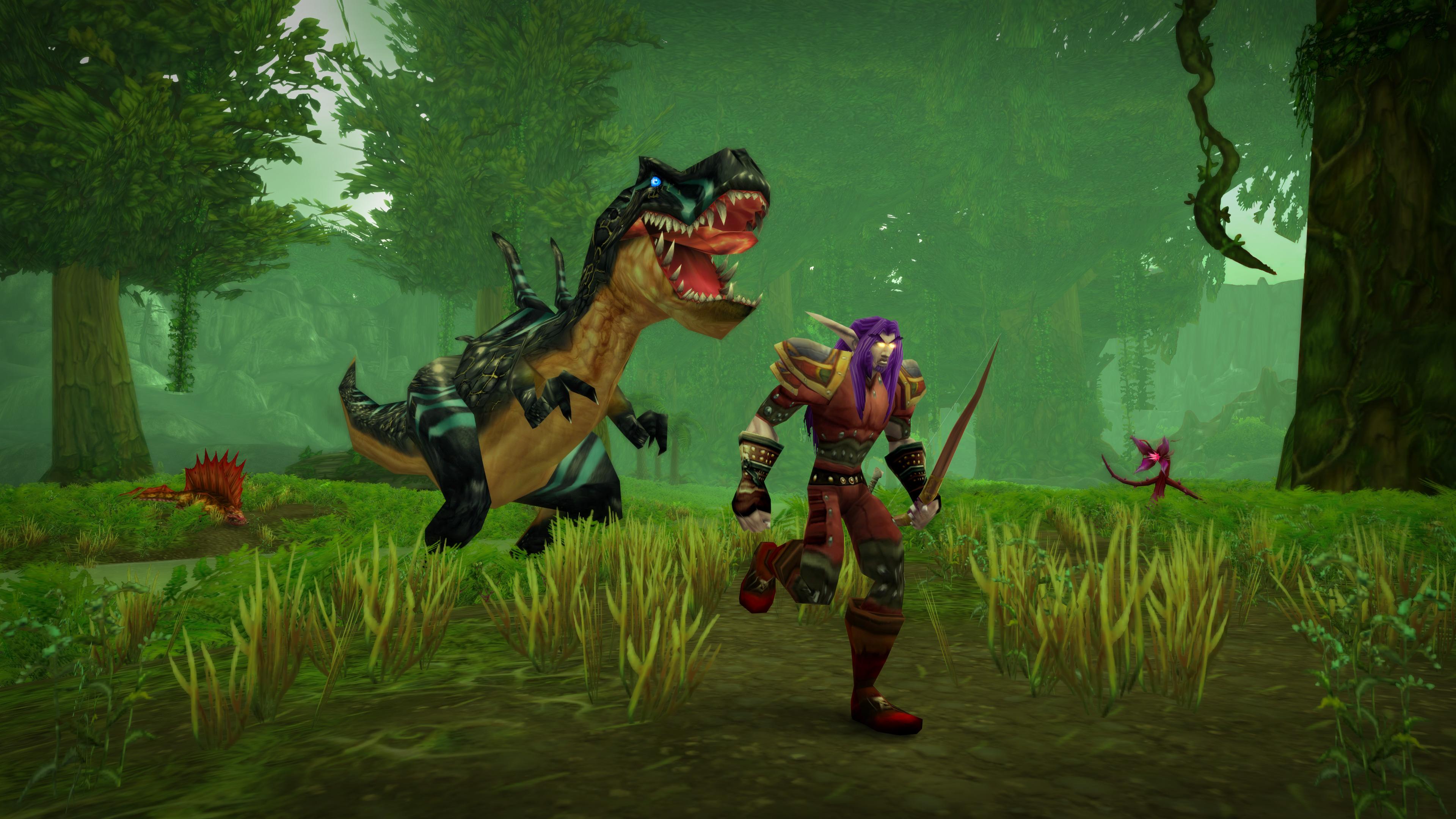 WoW_ClassicLaunchPressKit_UngoroHunter_1920x1080.jpg - World of Warcraft