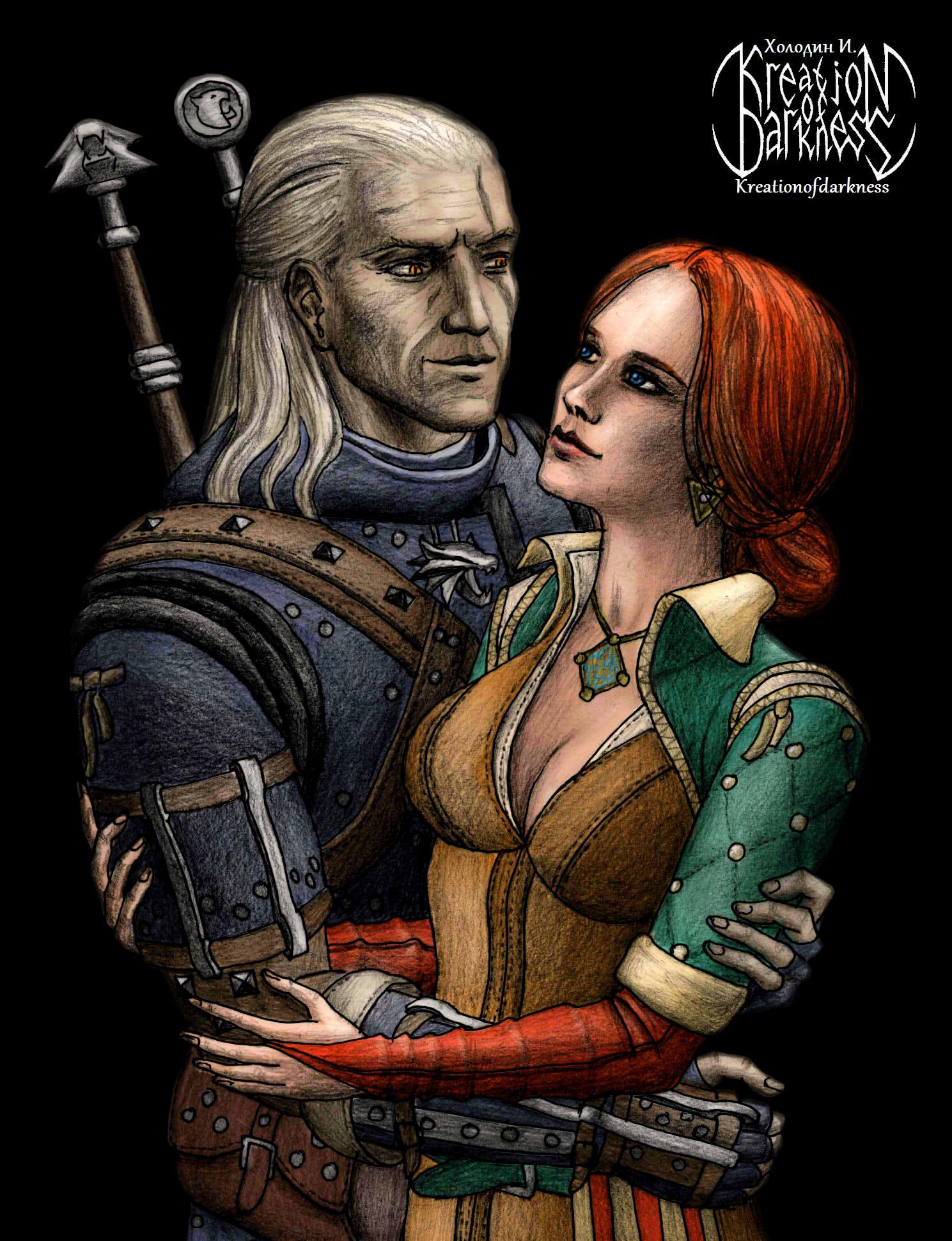 Ведьмак и чародейка - Witcher 3: Wild Hunt, the Арт, Трисс
